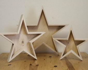 Wooden Star Wall Decor rustic star wall art | etsy