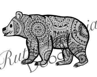Bear - A5 / A4 Print