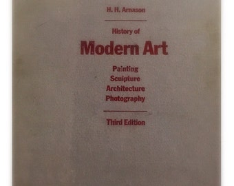 Vintage History of Modern Art book.   Coffee table book.  Arnason. Painting sculpture architecture photography. Hardback. Art lover gift