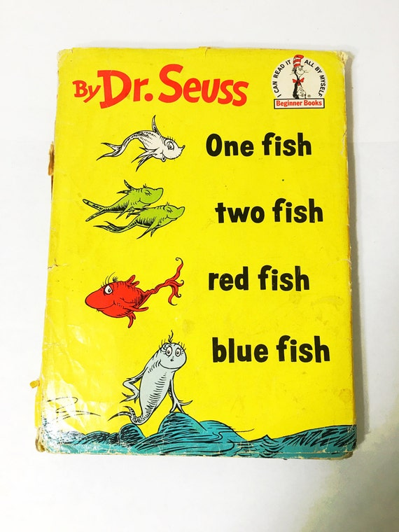 First edition dr seuss book one fish two fish red fish for One fish two fish book