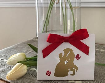Beauty and the Beast Inspired Gift Tote, Gift Bag, Gift Box, Euro Tote, Birthdays, Wedding & Baby Showers Favors