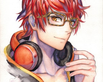 Mystic Messenger - 707 (Luciel Choi) (Watercolor Original)