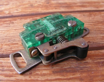 Vintage mechanical switch, Switch with spring, Toggle switch, Old power switch, Steampunk part