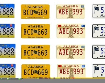 scale model car Alaska license tag plates