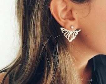 Boucles d'oreilles en argent sterling et perle naturelle