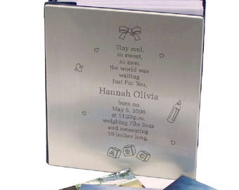 Personalized Tiny Soul New Baby Silver Album Custom Name Gift