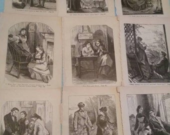 Quinnebasset girls antique original book prints by Sophie May