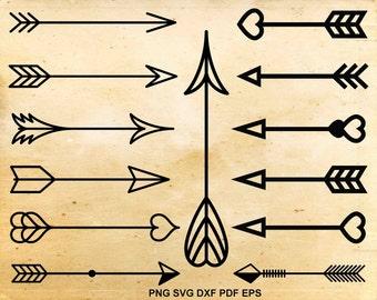 Arrow svg file, Arrow clipart, Tribal arrow, Svg files for silhouette, Cut files for cricut, pdf dxf svg eps png