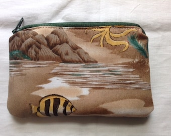 Hawaiian Marine coin purse, change purse, money purse