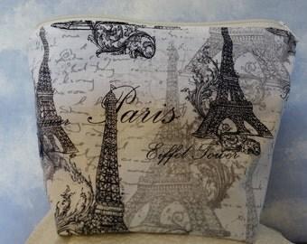 Paris Eiffel Tower Accessory bag, make up bag, toiletry bag