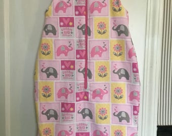 Newborn Elephants Baby Sleep Sack, Sleeping Blanket, size 0-3 months