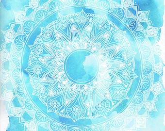 Blue Mandala artwork ||