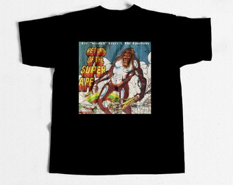 Vintage Reggae T-shirt Return Of The Super Ape Lp