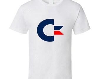 Vintage Gaming T Shirt C64 Logo
