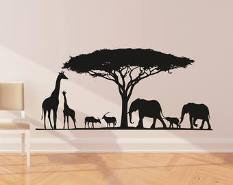 Safari Wall Decal | Etsy