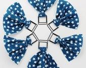 Navy & White Stars Paper Clip