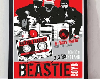 Beastie Boys ill communication reimagined drawn unframed gig poster. Specially created.