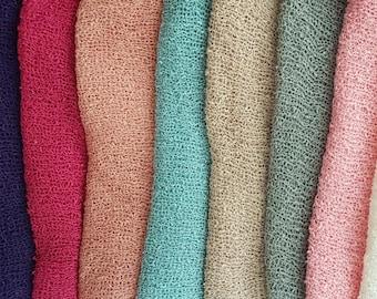 Stretch Knit Wrap, 50cm x 150cm, Photo Prop , Newborn Photo Prop,  Photography, Sitter Photo Prop.