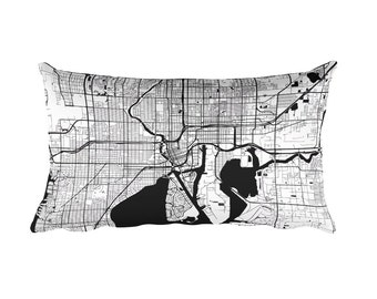 Tampa Pillow, Tampa Decor, Tampa Throw Pillow, Tampa Gift, Tampa Cushion, Tampa Map, Tampa Art, Tampa Florida, Tampa FL, Tampa Home, Cushion