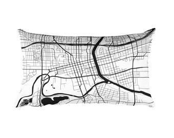 Des Moines Pillow, Des Moines Decor, Des Moines Cushion, Des Moines Throw Pillow, Des Moines Gift, Des Moines IA Map, Des Moines Art, Throw