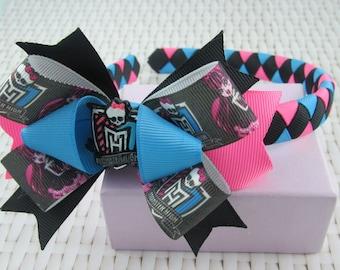 Woven Headband Inc Boutique Bow - Monster High
