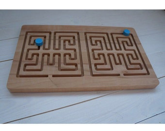 Wooden Maze, Maze, Montessori Game, Waldorf Toddler Toy, Montessori Materials, Learning Toys, Wooden Toddler Toys, Wooden Game, Todler Game