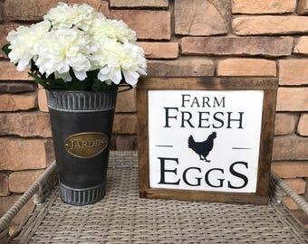 Farm Fresh Eggs Wood Sigh