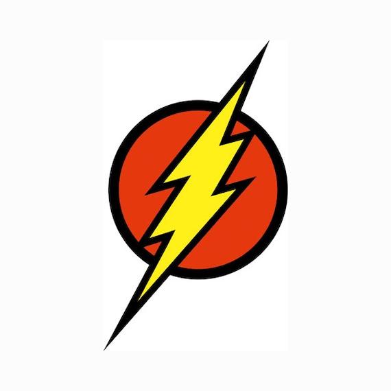 flash logo superhero layered svg dxf eps vector file