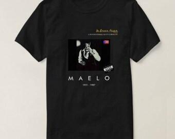 "UProSquad Presents - Ismael Rivera ""Maelo"" Black T Shirt by LaGranFuga"