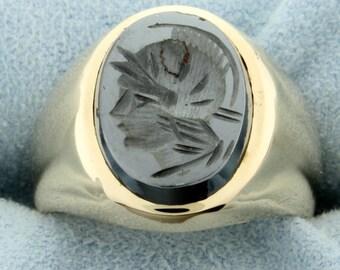 Hematite Gladiator Ring