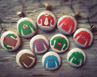 Ugly Sweater Wine Charms, Christmas Wine Charms, Ugly Sweater Party, Ugly Christmas Sweater Wine Charms, Holiday Wine Charms