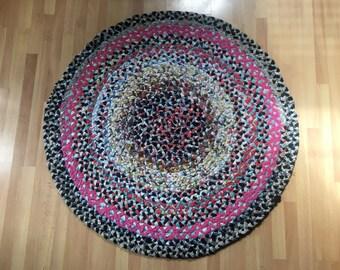 Colorful Braided Handmade Rag Rug