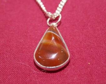 semi precious stone  crystal necklace chain pendant