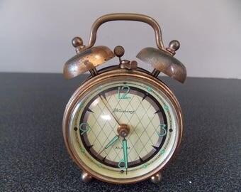Vintage German alarm clock Blessing copper clock