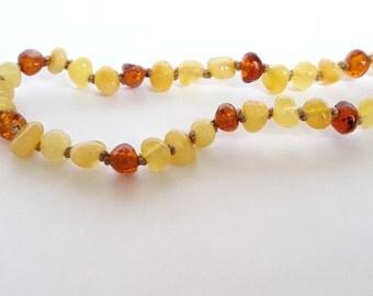 Cognac honey amber teething necklace amber necklace toddler honey cognac baltic amber teething necklace amber necklaces for babies kids gift