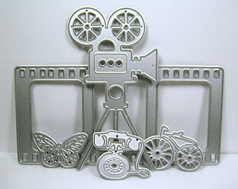 5 Pc Film Strip, Movie Projector Cutting Dies Set