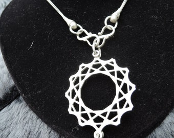 Necklace FX citine effect silver hand made