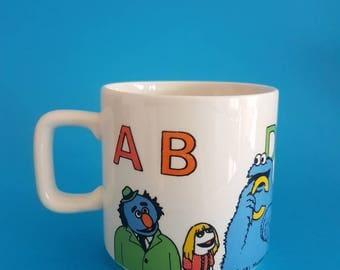Vintage Muppets Mug - Cookie Monster - Bert & Ernie - Retro - Kids Cup