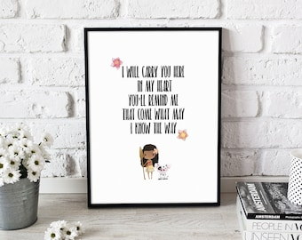 I Know The Way - Moana quote, Instant Download, Printable