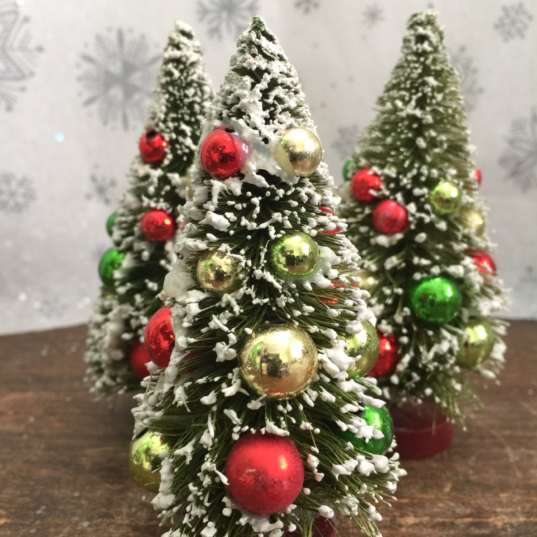 winter fairy garden set miniature artificial sisal christmas