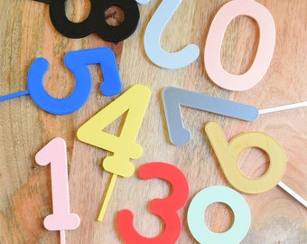 Number Cake Topper - Amazing colours - Birthday - Numbers
