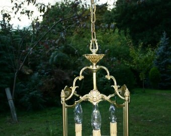 An extremely unusual, beautiful bronze vintage French lantern(F600)