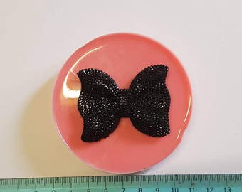 Flexible silicone mold studded bow!