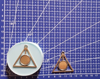 Flexible silicone mold base cameo Deathly Hallows (Harry Potter)