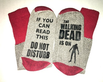 Do Not Disturb Walking Dead Socks / bottom socks / mens / mens socks / unisex socks/ novelty / gifts /  beer socks / walking dead