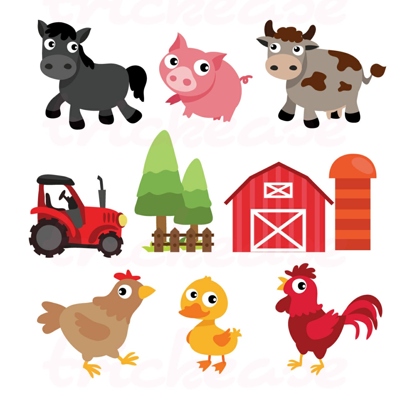 clipart pictures farm animals - photo #41