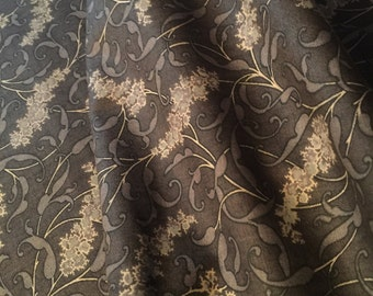 Reproduction Fabric Jubilee Mourning Gray Pattern 8254-17 by Barbara Brackman for Moda Fabric-100% High Quality Cotton by 1/2 yd or YARDAGE