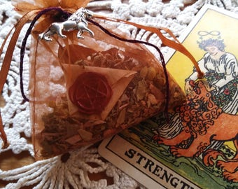 Mojo Bag for Strength and Courage The Cunning Toad Charm Bag (sold as curio)