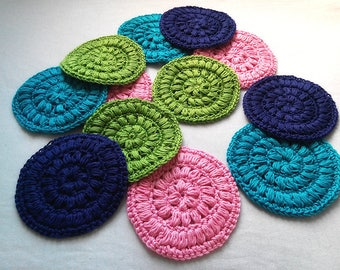 Jumbo Crocheted Face Scrubbies / Coasters