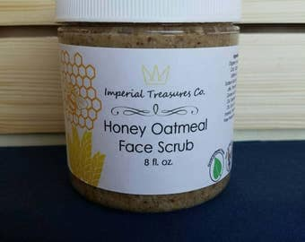Honey Oatmeal Facial Scrub - Exfoliating Facial Scrub - Face Mask - Spa & Relaxation - Gifts for Her